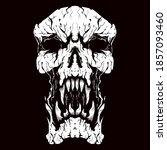 angry skull head vector logo... | Shutterstock .eps vector #1857093460