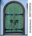 Wooden Double Barn Door With...