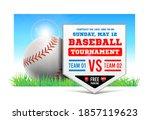 baseball plate on the...   Shutterstock .eps vector #1857119623