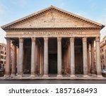 Pantheon Roman Temple Facade ...