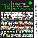 huge mega collection of 119... | Shutterstock .eps vector #185717630