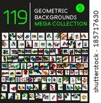 huge mega collection of 119... | Shutterstock .eps vector #185717630