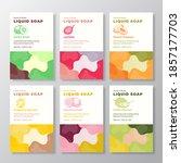 liquid soap label templates... | Shutterstock .eps vector #1857177703