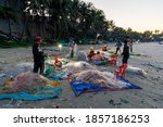 Fisher With Fisher Net At The...