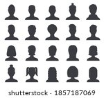 silhouette avatar. male and... | Shutterstock . vector #1857187069