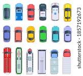 top view public transport. taxi ... | Shutterstock . vector #1857192673