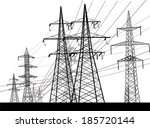 illustration with electric... | Shutterstock .eps vector #185720144