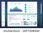 infographic dashboard  web...