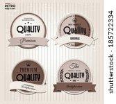 vector set of retro stamp ... | Shutterstock .eps vector #185722334