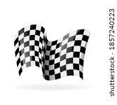 checkered racing waving flag....   Shutterstock .eps vector #1857240223