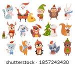 cute christmas animals  cartoon ... | Shutterstock .eps vector #1857243430