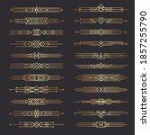 art deco dividers. lines shapes ...   Shutterstock . vector #1857255790