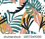 seamless abstract doodle... | Shutterstock . vector #1857269200