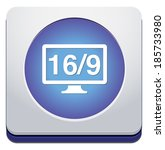 16 9 display icon | Shutterstock . vector #185733980