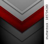 corporate vector abstract... | Shutterstock .eps vector #185734280