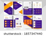 8 pages creative business... | Shutterstock .eps vector #1857347440