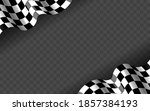 banner with waving checkered... | Shutterstock .eps vector #1857384193