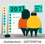 happy 2021 new year. the...   Shutterstock .eps vector #1857398746