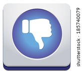 dislike  thumbs down icon  | Shutterstock . vector #185740079