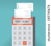calculator with business... | Shutterstock .eps vector #185740676