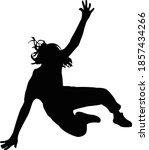 a teeenager girl falling down... | Shutterstock .eps vector #1857434266