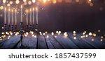 Hanukkah Abstract Defocused...