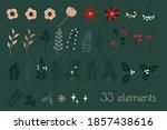 winter floral botanical set ... | Shutterstock .eps vector #1857438616