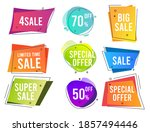 banners. colored shapes trendy... | Shutterstock . vector #1857494446