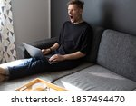 male frustrated screaming... | Shutterstock . vector #1857494470