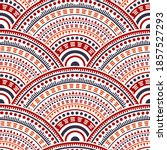 mexican abstract floral carpet... | Shutterstock .eps vector #1857527293