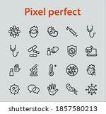 coronavirus a set of icons on... | Shutterstock .eps vector #1857580213