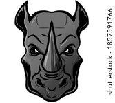 Rhino Head Vector Illustration...