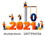 new year of 2020 to 2021 with...
