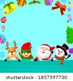 cute cartoon christmas...   Shutterstock .eps vector #1857597730