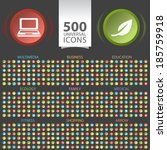 set of 500 universal flat icons ... | Shutterstock .eps vector #185759918