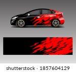 sport car racing wrap design.... | Shutterstock .eps vector #1857604129