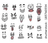 cartoon face color | Shutterstock .eps vector #185760554