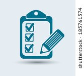 vector checklist icon    Shutterstock .eps vector #185761574