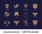 vintage luxury horoscope zodiac ... | Shutterstock .eps vector #1857616060