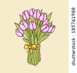 decorative vector floral... | Shutterstock .eps vector #185761988