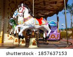 Carousel Horse In Children Park....
