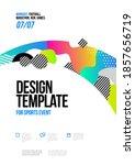 poster design with loop element ...   Shutterstock .eps vector #1857656719
