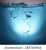 water wave with bubble | Shutterstock . vector #185765966