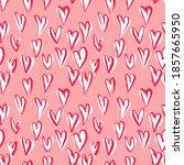 abstract seamless heart pattern.... | Shutterstock .eps vector #1857665950