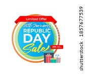 vector republic day offer label ...