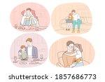 family care  fatherhood ... | Shutterstock .eps vector #1857686773