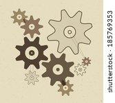 abstract vector cogs   gears... | Shutterstock .eps vector #185769353