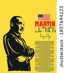 martin luther king day card... | Shutterstock .eps vector #1857694123