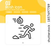 rush icon with outline style...