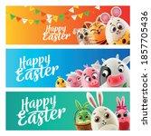 set of graphics for easter... | Shutterstock .eps vector #1857705436